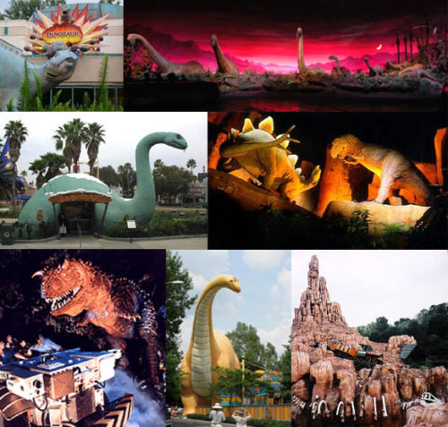 Which Disney Park contains Jurassic Park dinosaurs? Answer: All of them.