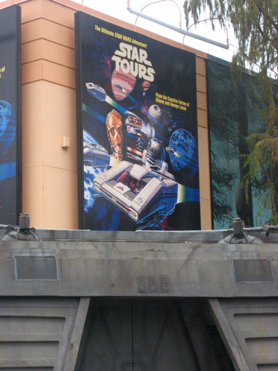 Original Star Tours building with poster