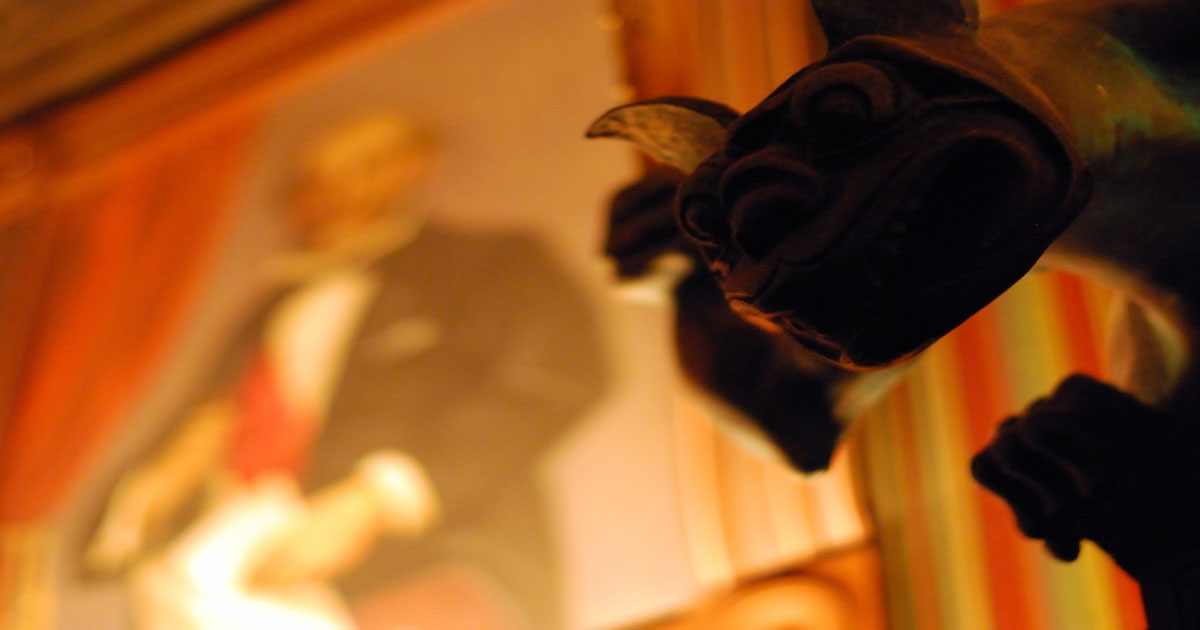 Haunted Mansion Stretching Room Gargoyle