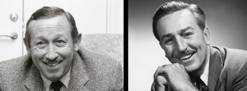 Roy E. Disney and Walt Disney side by side