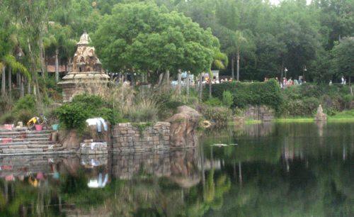 The lost water temple as glimpsed from Dinoland