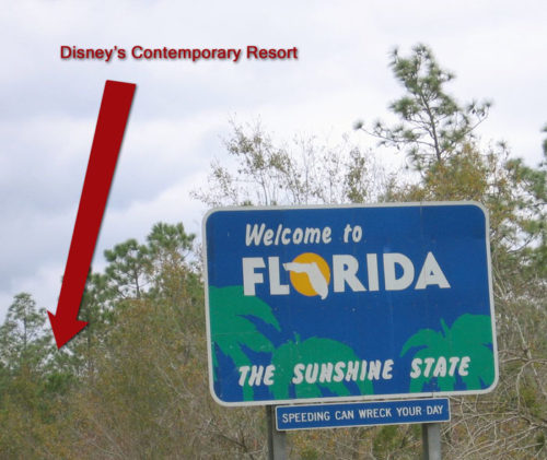 Can you see Disney World from the Florida State Line?