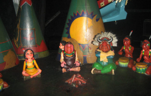 Tiger Lily and the Indians in Peter Pan's Flight cast fake shadows