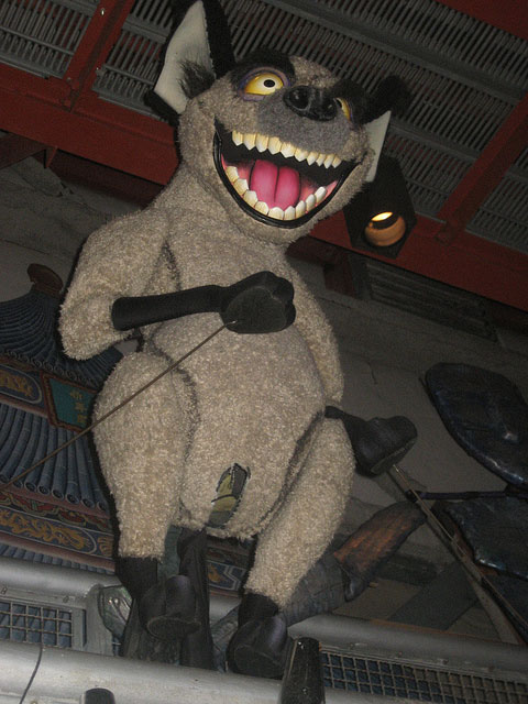 Banzai Hyena puppet from the Legend of the Lion King at Magic Kingdom