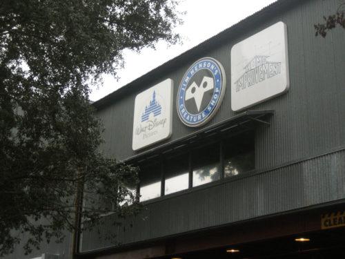 Jim Henson Creature Shop sign on Tour Corridor at Disney's Hollywood Studios