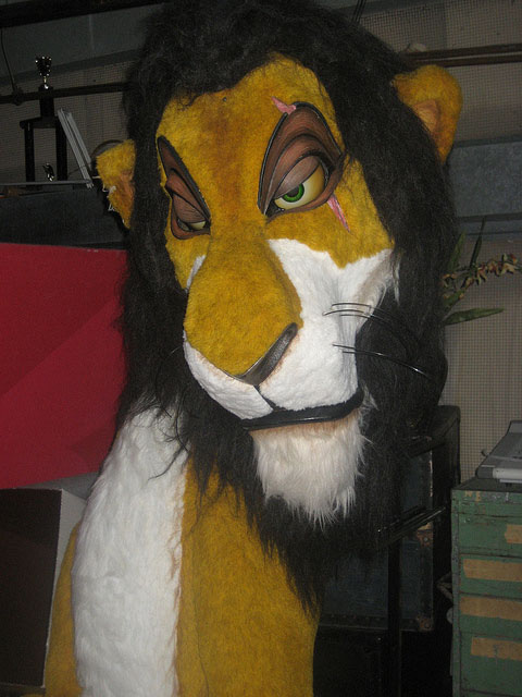 Scar Puppet from the Legend of the Lion King at Magic Kingdom