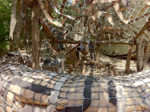German machine gun nest outside Indiana Jones Epic Stunt Spectacular