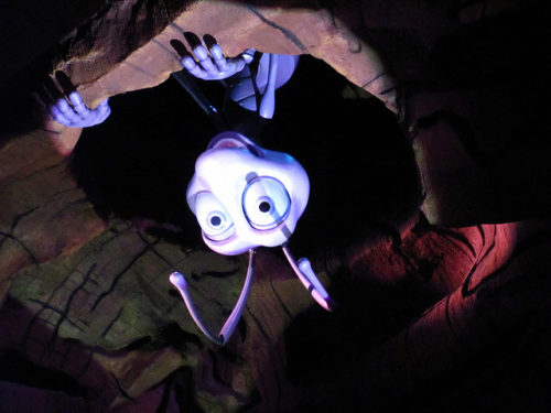 Flik's animatronic eyes in It's Tough to Be a Bug are as complex as the animated Pixar eyes