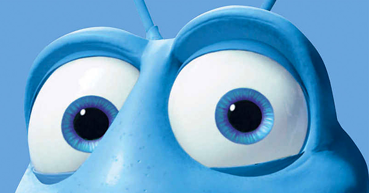 The Pixar Eyes look, as seen in Flik