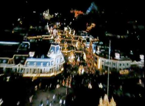 Christmas at Disneyland during the Soarin' flyover