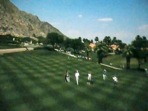 Michael Eisner golfing in Soarin'
