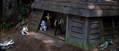 Endor shield generator bunker in Return of the Jedi