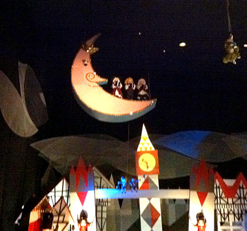 There is just one moon in It's a Small World