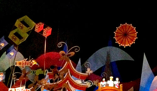 There is just one moon and one golden sun in Asia in It's a Small World