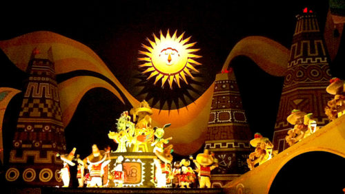 Animated Mexican sun in It's a Small World