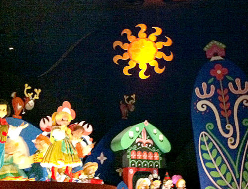 Scandanavian sun in it's a small world