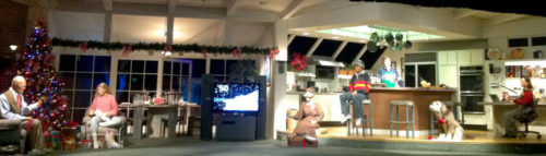 The Carousel of Progress family shown in the final Christmas scene
