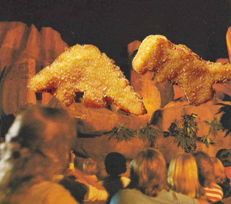 Stegosaurus versus Tyrannosaurus Rex in the Universe of Energy -- As Chicken Nuggets