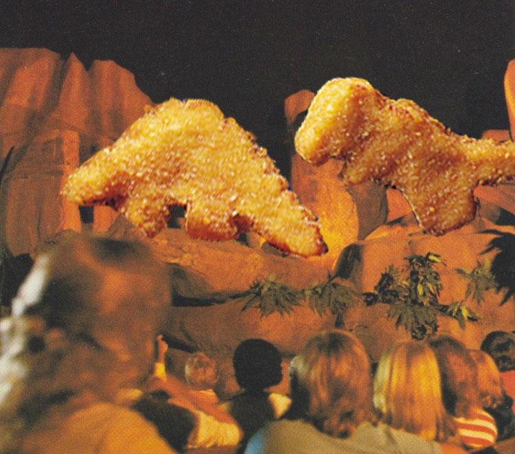 Stegosaurus versus Tyrannosaurus Rex in the Universe of Energy -- As Chicken Nuggets