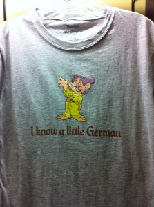 """I know a little German."""