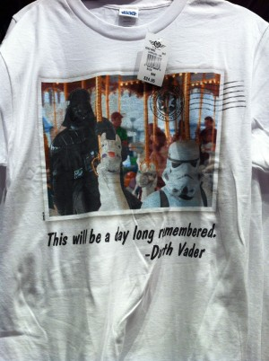 Darth Vader on the Carousel