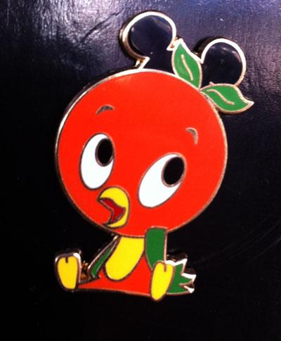 Orange bird collectible pin