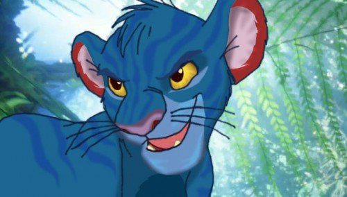 Simba as a Na'vi in Avatar