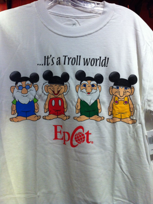 It's a Troll World t-shirt