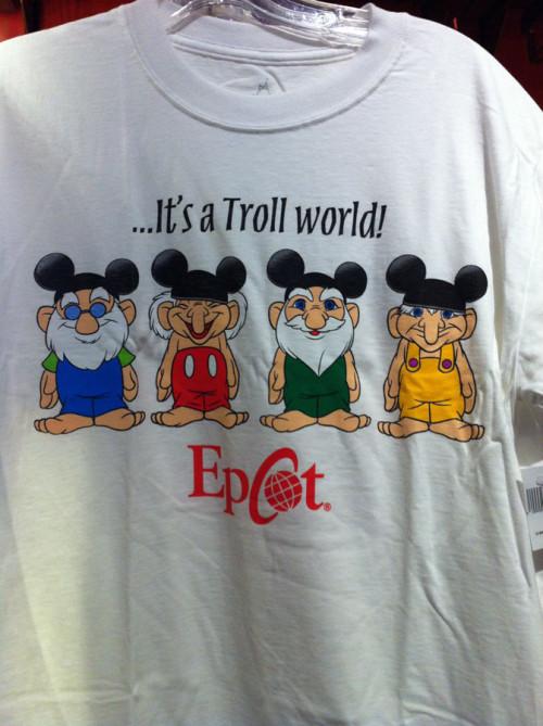 It's a Troll World t-shirt