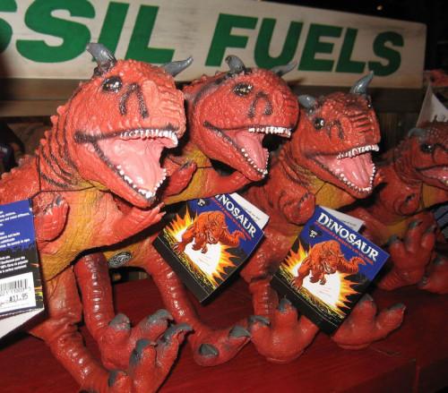 Rubber carnotaurus toys