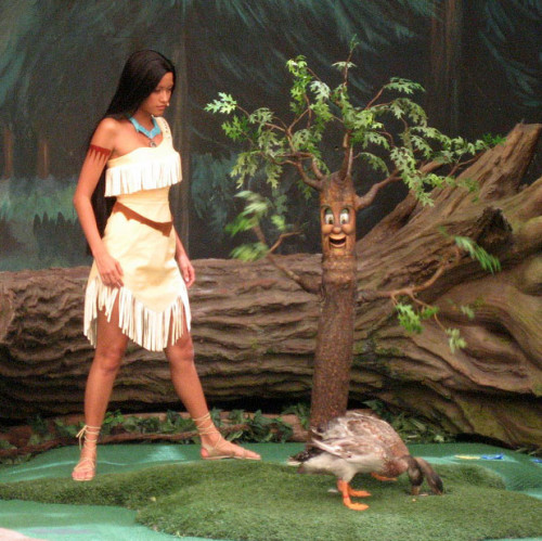 You remember that scene where Pocahontas and the tree spirit of a Keebler Elf hungrily attacked a flock of ducks?
