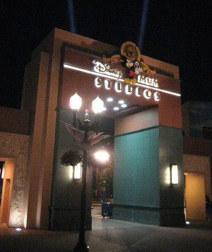 The original Disney MGM Studios archway in Animation Courtyard