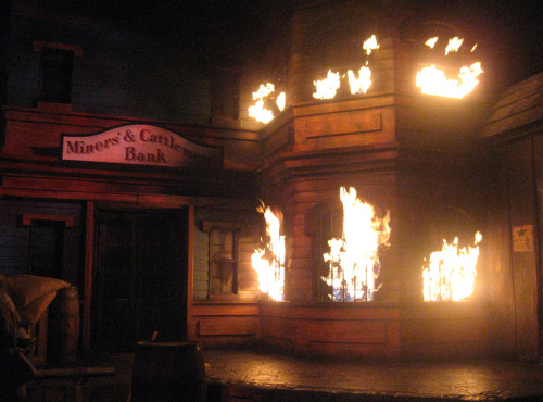 The western scene from the Great Movie Ride, one of the Disney MGM Studios Opening Day attractions