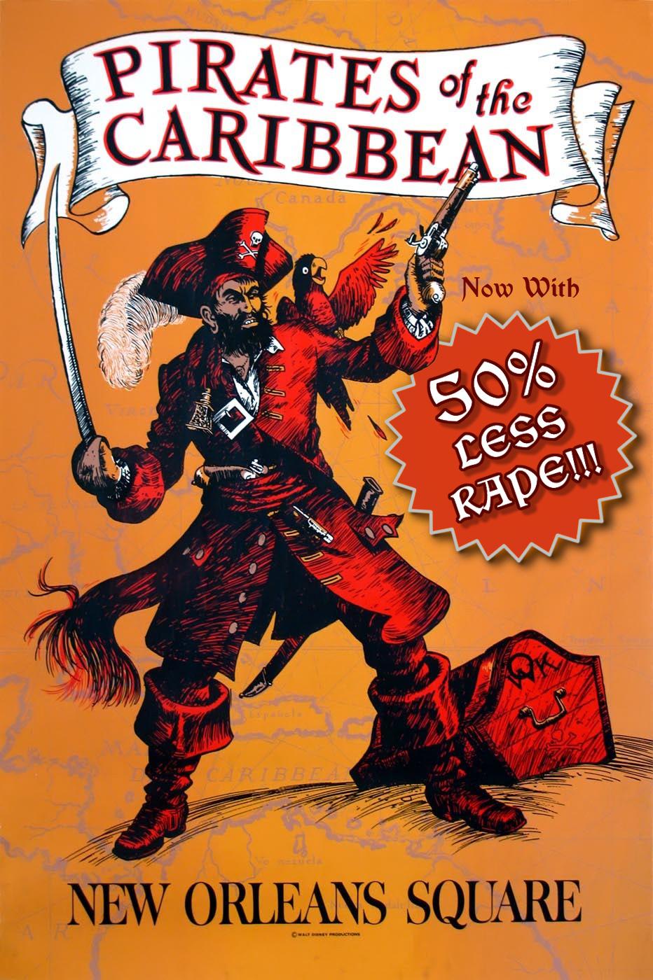 Pirates less rape poster