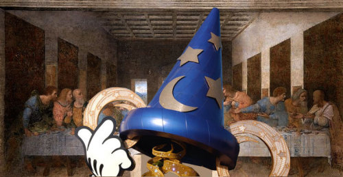 Mickey's Sorcerer's Hat covers the Chinese Theater like a priceless work of Davinci art.