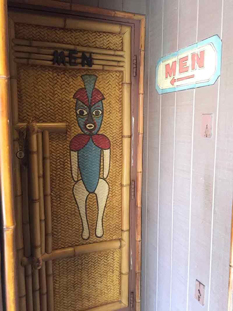 Secret Hidden Mens restroom at the Enchanted Tiki Room Disneyland Secret Luxuries