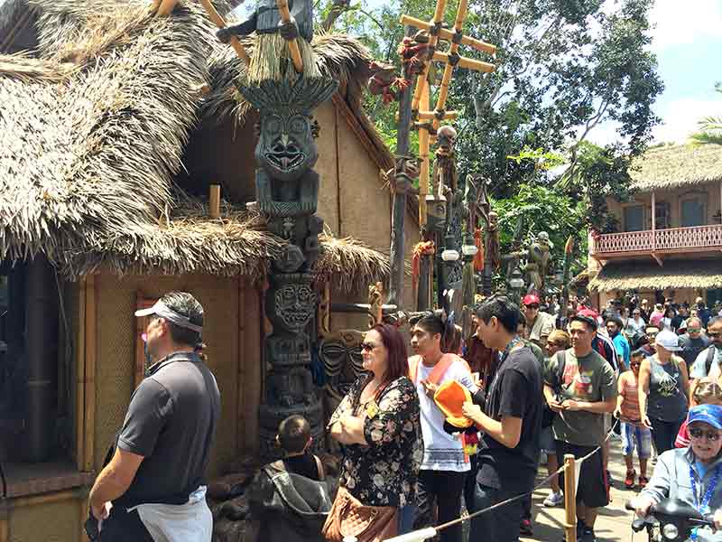 Dole Whip lines at Tiki Juice Bar Disneyland Secret Luxuries