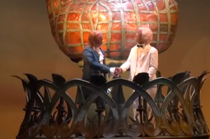 Ben Franklin and Mark Twain Shake Hands