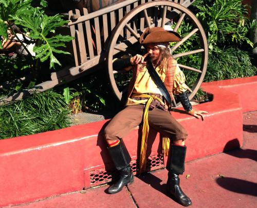 Pirate Picking His Nose