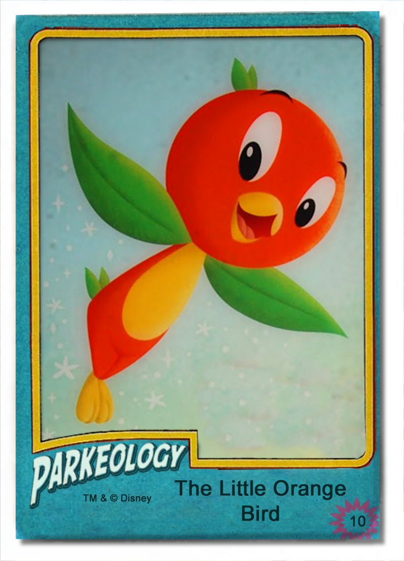 Parkeology vintage theme park trading cards Orange Bird