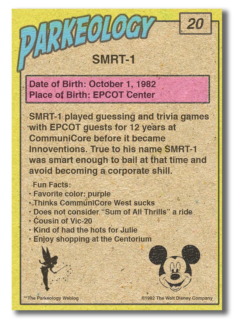 Parkeology vintage theme park trading cards SMRT-1