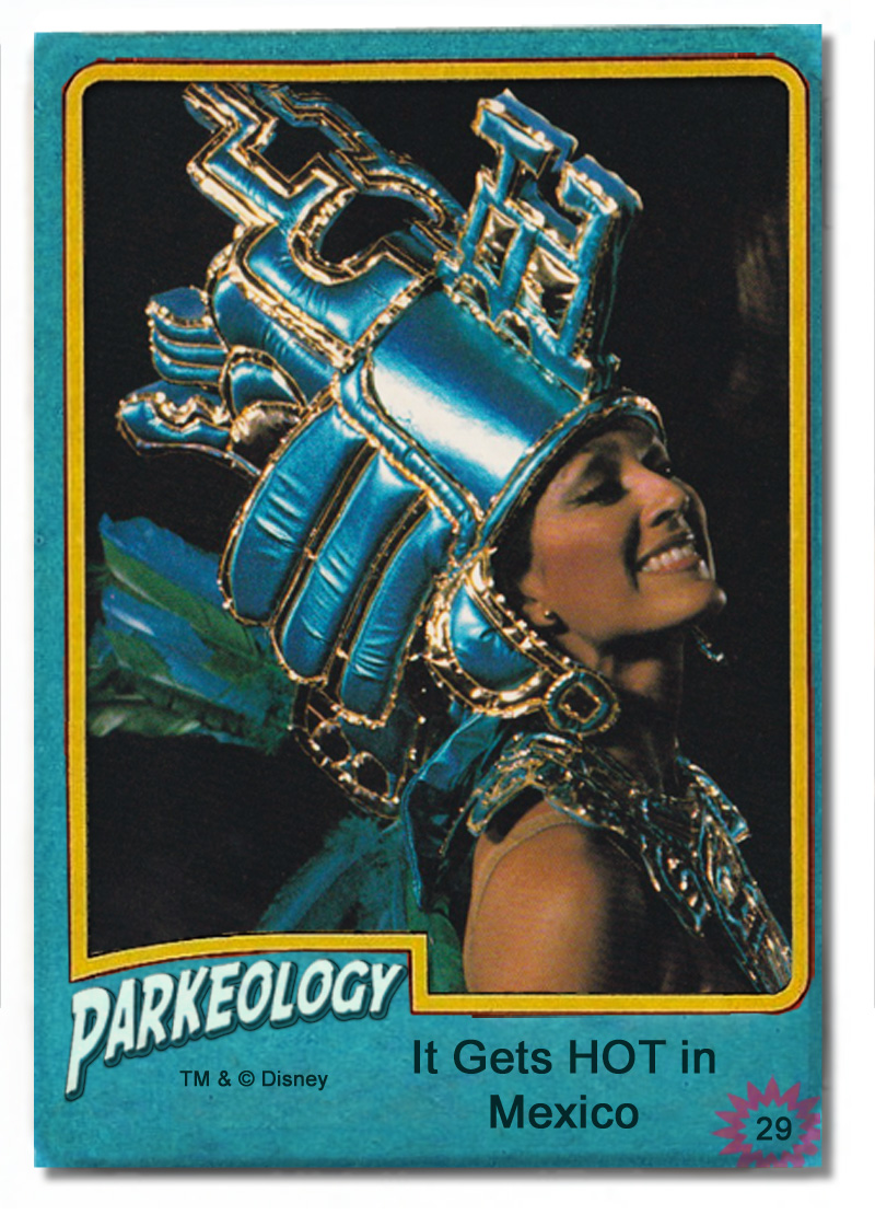 50 greatest park characters trading cards Aztec Dancer