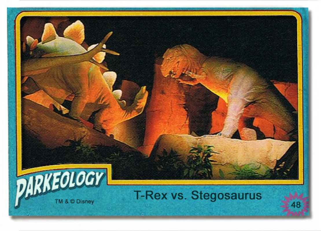 50 greatest park characters trading cards T-Rex