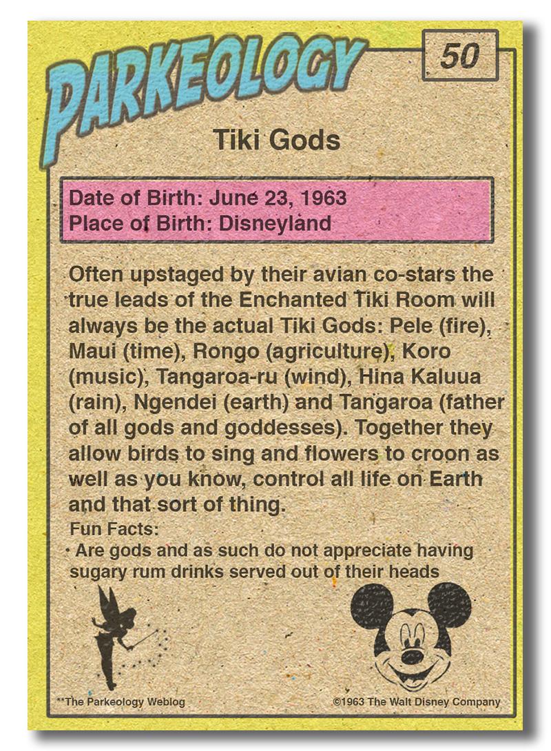50 Greatest Park Characters-Tiki-Gods-Back
