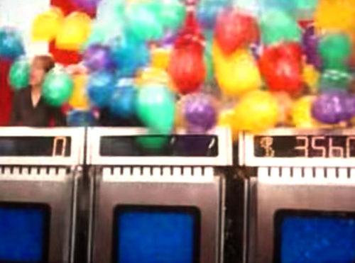 Balloons on Ellen's Energy Adventure Jeopardy show