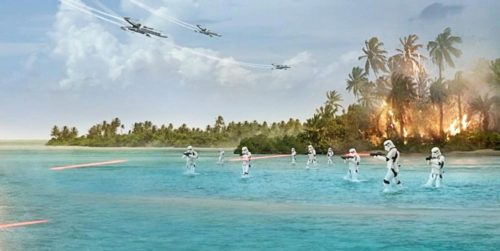 Rogue One - Scarif - Stormtroopers on the beach