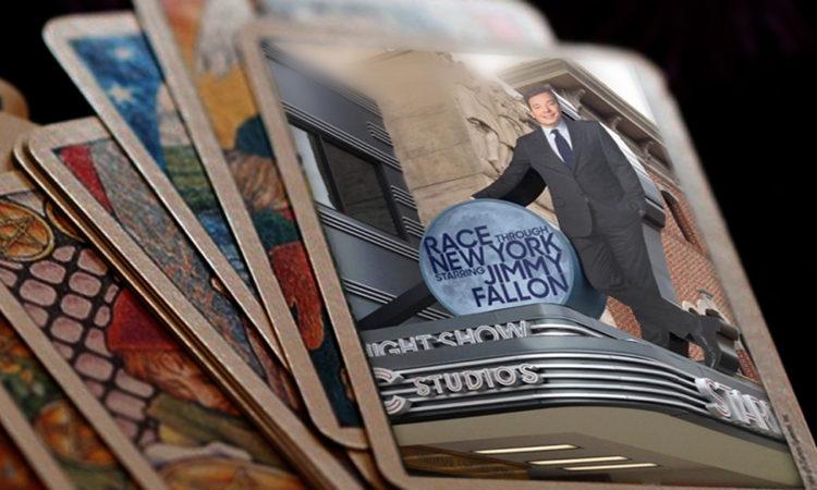 Jimmy Fallon Race Through New York Tarot Cards