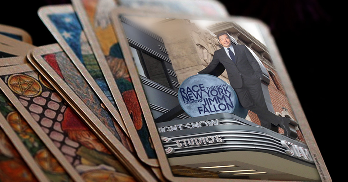 Jimmy Fallon Race Through New York Tarot Cards