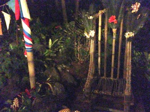 Swiss Family Treehouse bamboo race chair and starting line flags