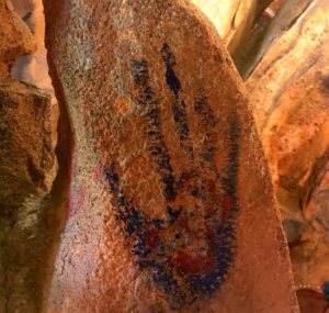 Avatar handprint on Flight of Passage cave